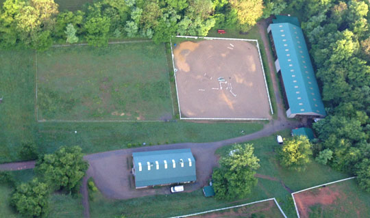 Aerial Photo Encore Stables